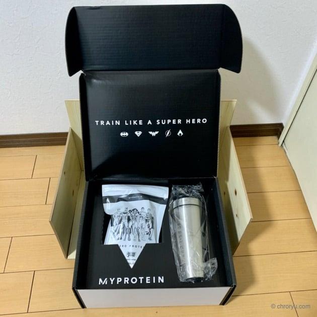 ジャスティスリーグスーパーヒーローコラボ BOXのアイキャッチ同梱物