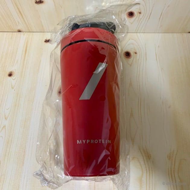 マイプロテインのメタルシェイカーをレビューの梱包