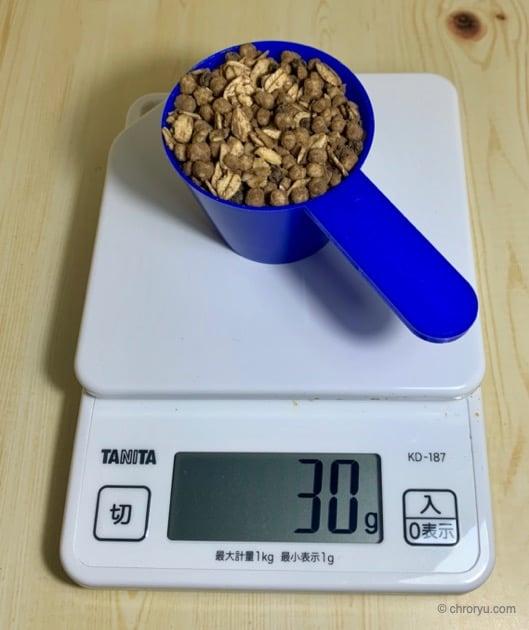 マイプロテインのプロテイングラノーラをレビュー。高タンパクで朝食には良いかもの30gの量